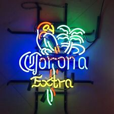 "17""x14"" Corona Extra Parrot Neon Light Sign Beer Bar Pub Club Store Home Display"