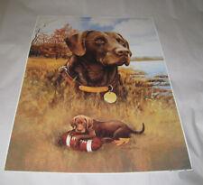 Print Artist Larry Chandler Dog & Puppy 18 x 24