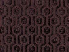 Geometric Drapery Upholstery Chenille Fabric Serenade343 Dark Purple By The Yard