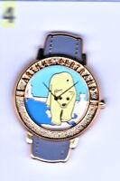 ab9# pin's montre watch Arthus Bertrand ours bear doré golden version