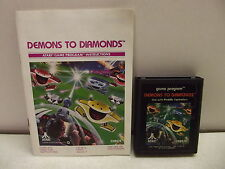 Atari 2600 Game Cartridge Demons To Diamonds W/Manual