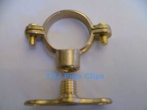 Brass Munsen Ring with wall plate Pipe Clip, Support Bracket