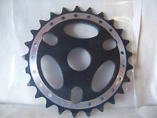 BICYCLE SPROCKET CHAINRING 25T ALLOY BLACK BMX CRUISER LOWRIDER FIXED ROAD MTB