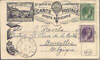 "LUXEMBURG ""PAR BALLON / EXP. PHIL. LUXEMBOURG / 8 Sept. 1927"" L3 Ballonpostkarte"
