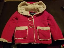 Me Jane Baby Toddler Girl's Size 2T Red Hooded Fall Winter Holiday Sweater Coat