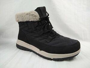 Ryka Aubonne Lace Waterproof Faux Fur Black Ankle Boots Women Sz 10 W MSRP $92