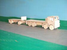 1:32nd Atkinson Defender 8x4 rigido pianale con rimorchio in legno modello Camion