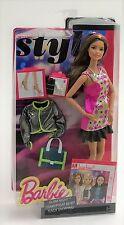 Barbie Style Glam Night 28cm Doll CLL35 TERESA Brown Hair Mattel