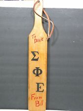 Vintage Sigma Phi Epsilon Paddle Wood SigEp