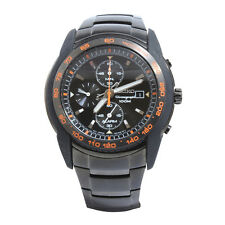 Seiko SNAB97 P1 Black Orange Alarm Chronograph Men's Quartz Watch
