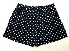 Vince Camuto Women Blue and White Polka Dot Shorts Size 0 Pleated