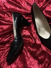 GORGEOUS BALLY DESIGNER WOMENS PUMP SHOES BLACK HIGH HEEL  size 7.5