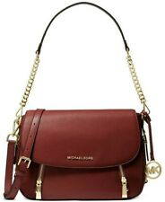 ❤️ Michael Kors Bedford Legacy Leather Flap Brandy/Gold Shoulder Bag BNWTS!!