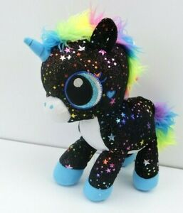 Fiesta Twinkle Bright Sparkle Star Black Unicorn Plush Stuff Rainbow Galaxy
