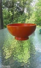 "VINTAGE FIESTA 11 3/8"" red FOOTED SALAD bowl"