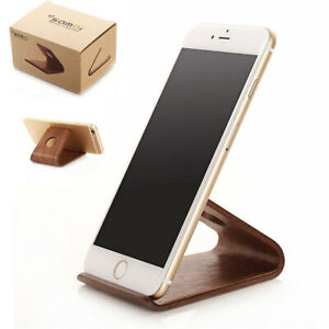 Solid Walnut Solid Wooden Cell phone stand Desk Tablet Mount For iPhone Holder
