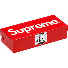 Supreme Small Metal Storage Box SS17 - Red