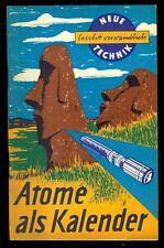 """DDR Heft Neue Technik leicht verständlich """"Atome als Kalender"""" von 1961"""