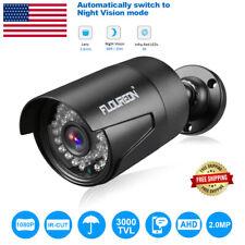 FLOUREON 1080P 2.0MP 3000TVL NTSC Waterproof Outdoor CCTV DVR Security Camera IR