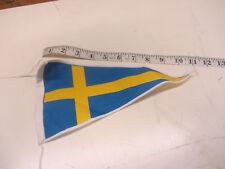ORIGINAL SWEDISH SWEDEN FLAG FOR    LAMBRETTA + VESPA NOS ULMA VIGANO