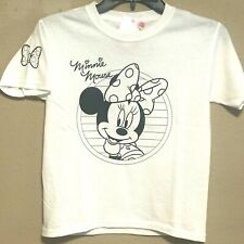 Minnie Mouse T Shirt Disney White Cotton Youth Small