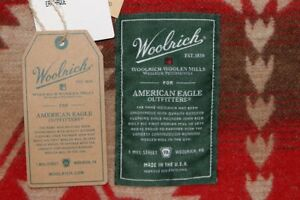 Woolrich x American Eagle Roaring Branch Jacquard Blanket MADE IN USA NEW 50x70