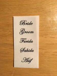 75 Clear Stickers Name Labels Wedding Place Cards or to personalise favours