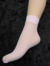 ANKLE SOCKS PINK STRETCHY SOFT FISHNET LADIES FIT APPROX UK SHOE SIZE 4 - 8 BNWT