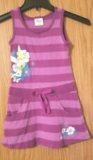 Cute Little Girl's DISNEY TINKERBELL Size S 5/6 Tank Dress Graphic Grape Stripes