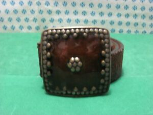 Vintage - Men's Belt Genuine Leather, With Buckle Metal CM 110 x 4
