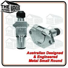7 PIN SMALL ROUND TRAILER PLUG SOCKET ADR 82131BL 82032BL AUSTRALIAN BRAND METAL