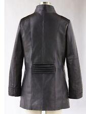 Women's Outerwear Winter Black Leather Jacket Coat plus 1X 2X $310