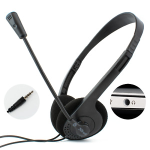 LAPTOP HEADSET with STEREO MICROPHONE | 3.5mm TRRS Connector | ZOOM SKYPE CHAT