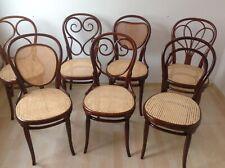 7 Original Thonet Stühle Nr.1, 2, 3, 4 ,8,25 um 1870 Erste Etikette