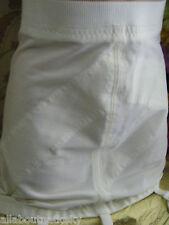 SEARS 27337 VINTAGE OPEN BOTTOM SHAPER -6 garter Belts- SIZE 32 - OFF WHITE