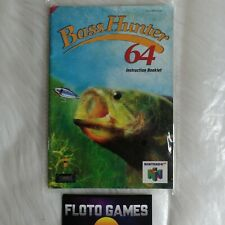 Notice de Bass Hunter 64 / Basshunter pour Nintendo 64 N64 PAL EUR - Floto Games