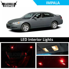 Red LED Interior Lights Accessories Package Kit fits 2006-2013 Chevrolet Impala