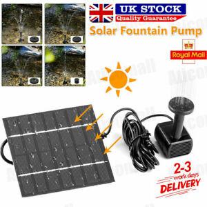 180L/H Solar Panel Powered Water Feature Pump Garden Pool Pond Aquarium Fountain