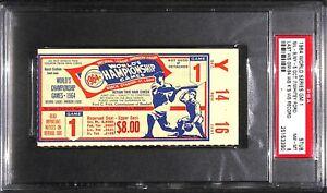 "1964 World Series Whitey Ford ""94 WS K's MLB Record"" Game 1 ticket PSA 8 highest"