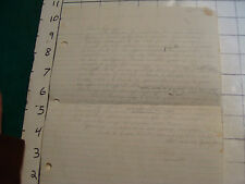 Donny Osmond unsent or draft of love letter Sept 1972, neat