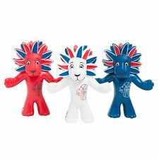 OLYMPIC MASCOT TEAM GB FIGURINE - PRIDE THE LION (Pack of 3) - NEW