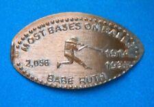 Babe Ruth elongated penny Usa cent Mlb Baseball coin Most Career Walks