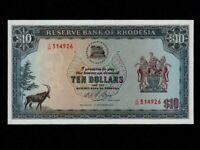Rhodesia:P-33i,10 Dollars,1975 * UNC *