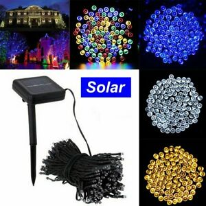 Waterproof String Fairy Lights 20-500 LED Solar Power Battery Outdoor Xmas Tree