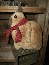 Primitive Little Netherland Dwarf Rabbit Bunny REGGIE folk art tuck ornie