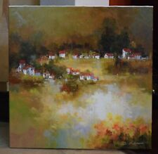 Original Oil Painting  Landscape By Jan Matino / Stretched  /signed