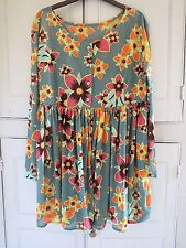 Vintage 90s United Colors of Benetton Floral Dress Top Size Small UK 10 12