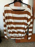Peyton Jensen Stripe  Tee Long Sleeve NWOT Women's Medium