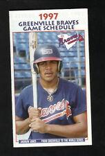 Greenville Braves--Andruw Jones--1997 Pocket Schedule--Coke