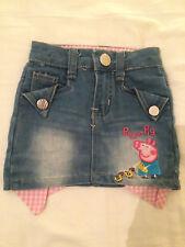 PEPPA PIG GIRLS BLUE JEAN SKIRT SIZE 3 YLXG SMOKE FREE HOME AUSSIE SELLER WOW!!!